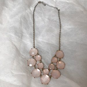 Women's pink and gold necklace